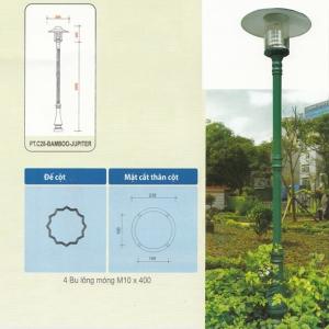 Cột đèn sân vườn bamboo tiêu chuẩn