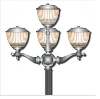 tay-chùm-cột đèn sân vườn